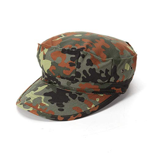 Military Ba Men's Private Cadet Washed Military Hat Flexfit Army Cap-German Camouflage
