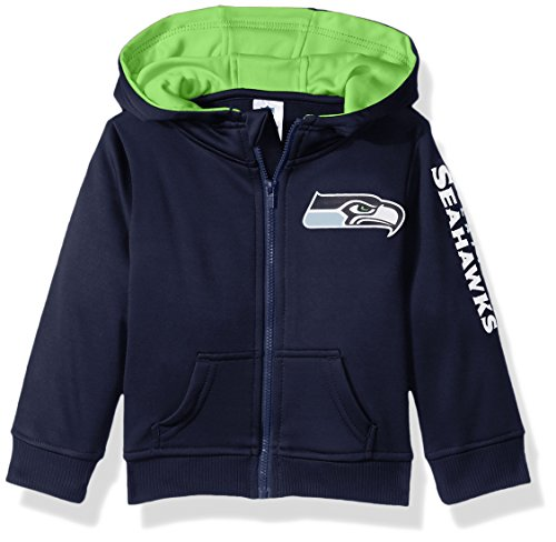 NFL Seattle Children Boys Full Zip Hoodie, 18 Months, Seahawks