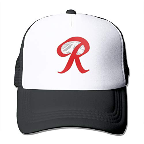 Trucker Hat Rainier Beer Capital R Mountain Mesh Baseball Caps with Adjustable Strap for Men Women Black