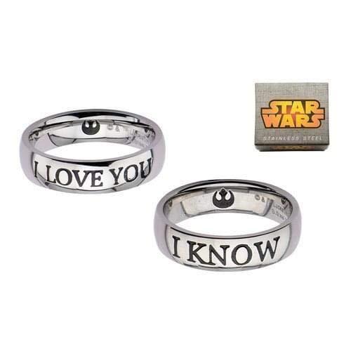 Star Wars Couple Ring Set I LOVE YOU / I KNOW SASO Anelli Gamesland SWHSPLFRSET