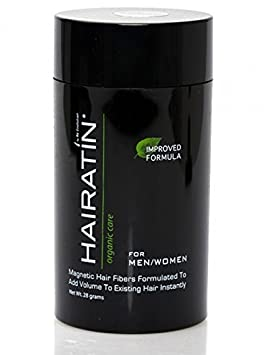 Hairatin Building Fibers-Most Effective Fibers for Thinning or Balding Hair_ Men and Women_ Great for Hair Loss- 28grams Dark Brown