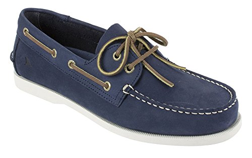 Mens Boat Classic (Rugged Shark Men's Classic Boat Shoes with Odor Control Technology, Navy Blue, Size 9.5)