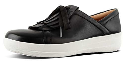 Leather II Lace Sneakers Black Sporty Up FitFlop Fringe F 0qzfgg