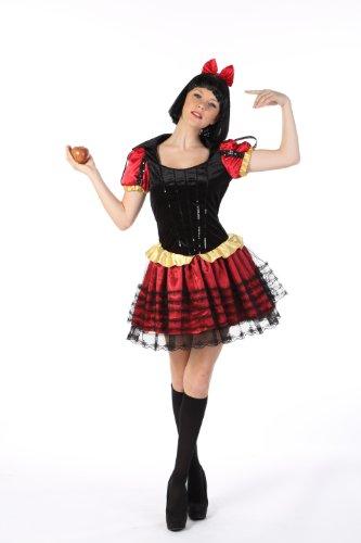 HGM Costume Women's Dark Storybook Princess, Red/Black/Gold, Large (Dark Princess Costume)
