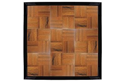 Deluxe Interlocking Tap Dance Floor w/ Real Wood Surface (3' x 3' Total, 9 Tiles)