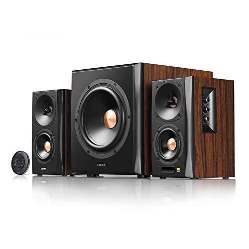Edifier S360DB Bookshelf Speaker and Subwoofer 2.1 Speaker System Bluetooth v4.1 aptX Wireless Sound for Computer Rooms, Living Rooms and Dens