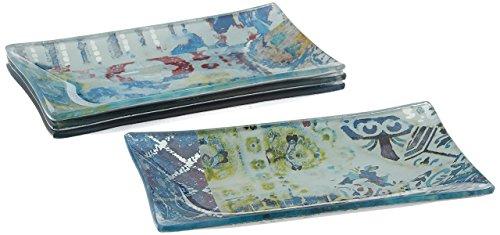 Tracy Porter Rectangular Trays (Set of 4), Blue ()