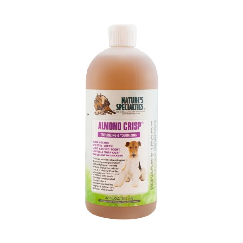 Nature's Specialties Almond Crisp Dog Shampoo with Aloe Vera for Pets, Small Dogs Poodles Dilutes Up to 32:1 Made in USA…