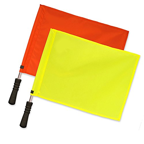 Donal Soccer Referee Flags | Official Linesman Flags (Solid Color) (Linesman Soccer Flags)