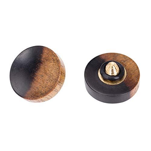 VKO Wood Soft Shutter Release Button Compatible for Fujifilm X-T3 X100F X-T20 X-PRO2 X30 X100T X100S X-T10 M7 M8 M9 Camera 12mm Concave Surface Special Color 1 PCS (Wood Grain Random)