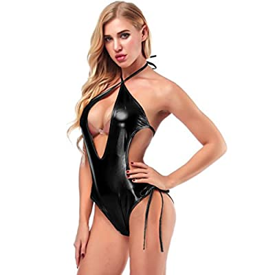 DongDong Women Sexy Lingerie Pajamas Clubwear Leather Underwear Performance Clothe