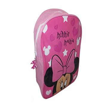 c57e0890af1 Sambro Minnie Mouse Junior Backpack with Zip  Amazon.co.uk  Toys   Games
