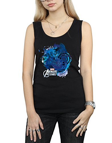 Tank Captain Top Negro Montage Mujer Marvel America P1IqwZOZa