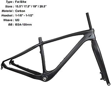 Bicicleta de montaña mate UD full carbon 2019 MTB BSA Fat Bike ...