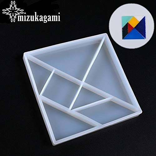 Resin molds Silicone 1pcs UV Resin Jewelry Liquid Silicone Mold Geometric Jigsaw Shape Resin Molds for DIY Intersperse Decorate Making Molds