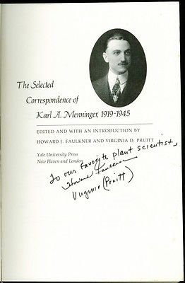 """The Selected Correspondence of Karl A. Menninger"" 1988"