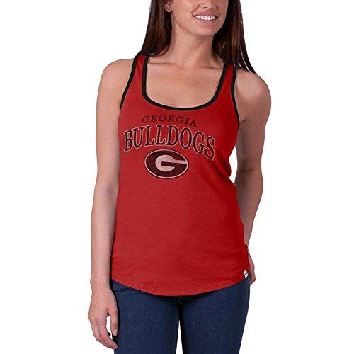 NCAA Georgia Bulldogs Women's Headway Tank Top, Rebound Red, Large