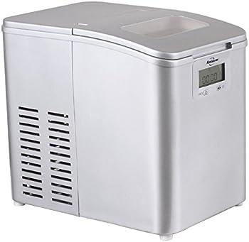 Koolatron IM-26MLL Portable Stainless Steel Ice Maker