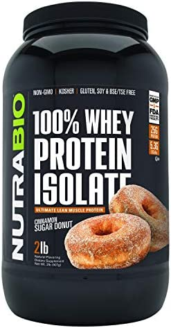 NutraBio Protein Isolate Cinnamon Pounds