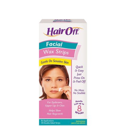 Hair Off Facial Instant Wax Strips 18 Sets 1104