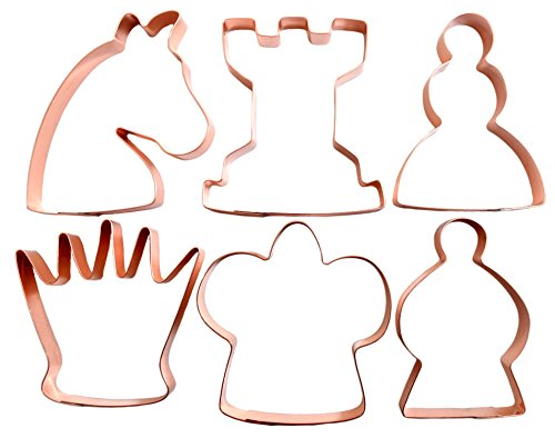 Copper Chess (Large Chess Pieces Set Copper Cookie Cutter Set)