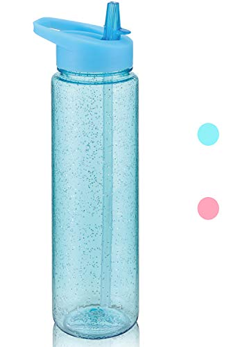 Kinaba Sport Water Bottle with Straw (Blue)