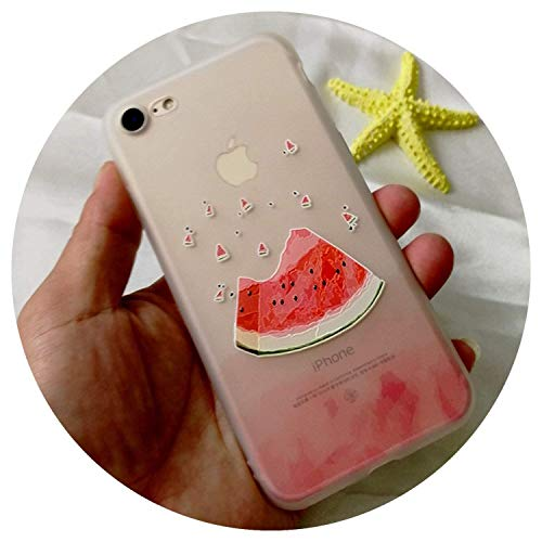 Relief Fruits Phone Case for iPhone 5 5S SE 6 6S 7 8 Plus X Transparent Soft TPU Many Juicy Peach Phone Back Cover Cases,2,for iPhone 8plus,2,foriPhone6plus