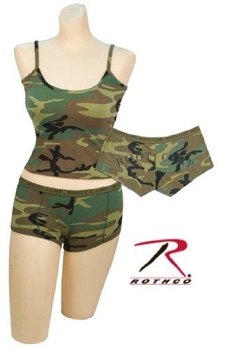 Woodland Camouflage BOOTY CAMP Booty Shorts (Womens) 3476 Size Medium