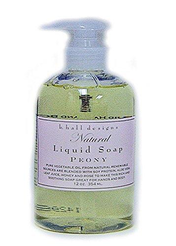 (k. hall designs Peony Natural Liquid Soap 12 oz/345ml)