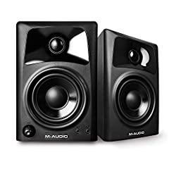 Listen like the pro's and experience crystal clear, defined sound by upgrading your standard factory desktop speakers. Perfect for gaming, watching movies or listening to your favorite song, M Audio's AV32 monitors combine premium components ...