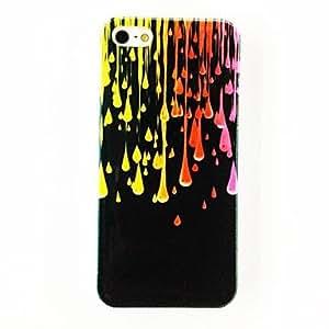 GONGXI-Colorido de la manera del patrón de lluvia Gotas de agua de plástico duro caso para iPhone 5/5S