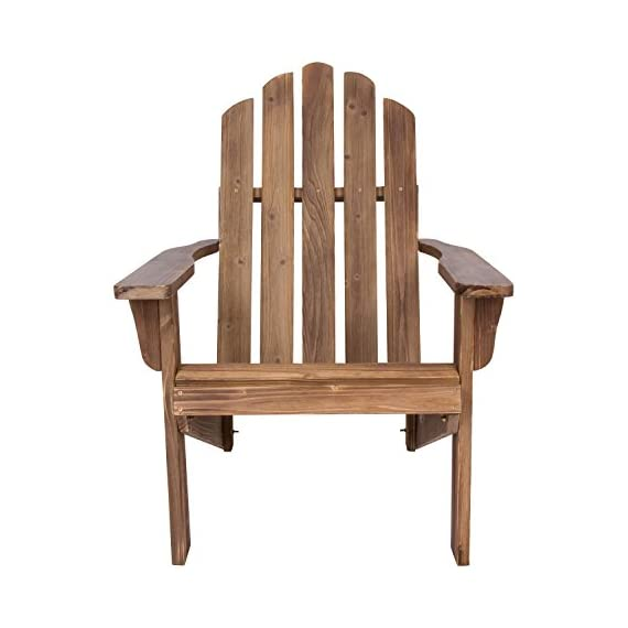 Shine Company Rustic Adirondack Chair, Rustic Wine - Material: Yellow Cedar Wood known for its natural resistance to moisture, decay, and insect damage. Finish: Weathered/distressed texture on the wood. Cedar wood has a beautiful grain and a knotty grade that adds warmth and charm. - patio-furniture, patio-chairs, patio - 410yAKkfndL. SS570  -