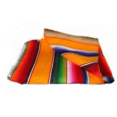 large-authentic-mexican-saltillo-sarapes-throw-rugs-colorful-mexican-blankets-orange-pumpkin