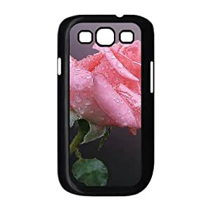 Samsung Galaxy S3 Cases Love Pink Roses for Teen Girls, Samsung Galaxy S3 Case Case for Teen Girls [Black]