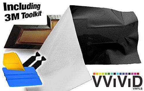 VViViD XPO Matte Black Chevy Bowtie Logo Wrap Kit (4 Rolls (11.8
