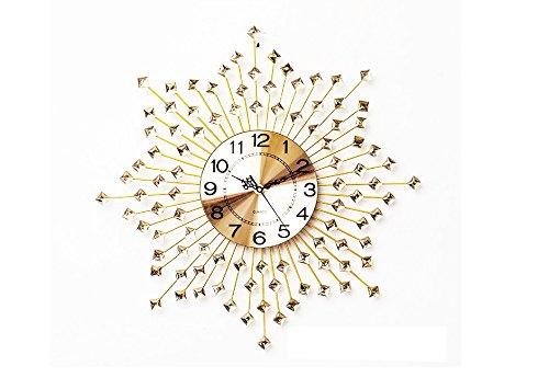 GREEM MARKET (グリームマーケット) 選べるカラー 大きい 特大 壁掛け時計 掛け時計 ウォール クロック 金属 ブラック キラキラ 星 スター ゴールド 文字盤ゴールド 金色品番:GMS01559-GG B07B7GLDGY ゴールドG ゴールドG