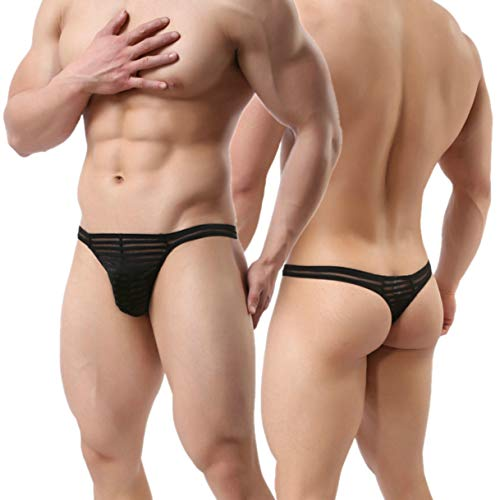 MuscleMate UltraHot Men's See Through Thong Underwear, Men's G-String Thong (Male Thong For Sex)