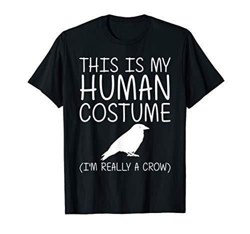 Crow Easy Halloween Human Costume Raven Bird DIY Gift T-Shirt