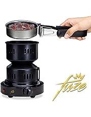 Elektrische kolenaansteker voor shisha-kolenzeef, draagbaar, kolengrill met 150 cm kabel, de accessoires, kolenaansteker, elektrisch zwart, barbecue-aansteker, kolenoven