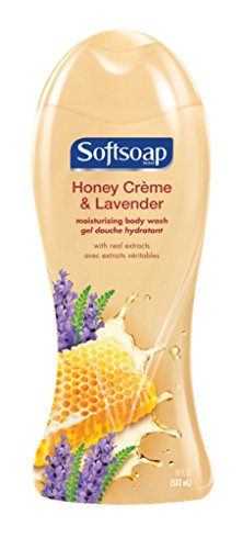 Softsoap Moisturizing Body Wash, Honey Creme and Lavender - 18 fluid ounce (6 Pack)