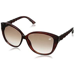 Swarovski Women's Divine Cateye Sunglasses,Dark Havana,60 mm