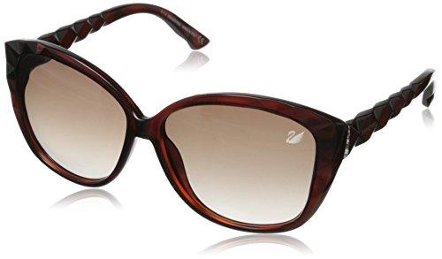 Swarovski Women's Divine Cateye Sunglasses,Dark Havana,60 - Sunglasses Divine
