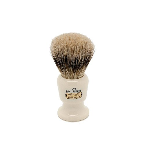 Simpsons Commodore X3 Best Badger Hair Shaving Brush Large - Imitation Ivory (Simpson Chubby 2 Best Badger)