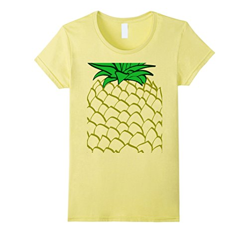 Womens Pineapple Costume Halloween T-Shirt Easy Costume Medium Lemon