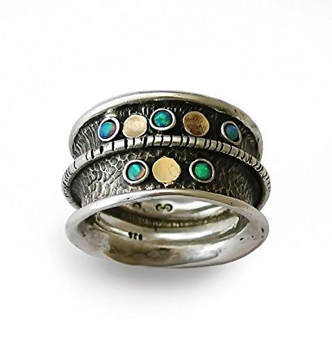 9k Yellow Gold Opal Ring - 8
