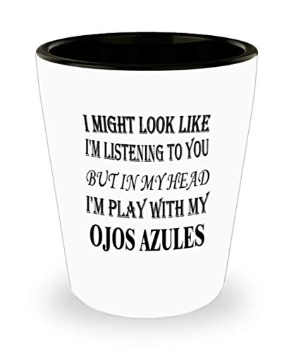 My Cat Ojos Azules Gifts White Ceramic Shot Glass - I Might Look Like I'm Listening - Best Inspirational Gifts and Sarcasm Pet Lover]()