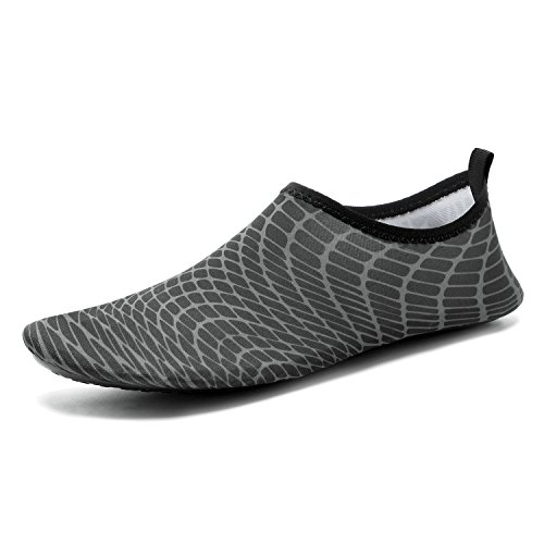 CASMAG Männer Frauen Quick-Dry Wasser Schuhe Barfüßig Aqua Socken Für Yoga Strand Schwimmen Pool Übung Surf 02schwarz