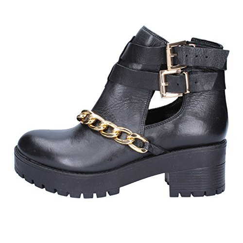 Leather Ankle Black Womens Boots Inuovo qzwxICAA
