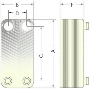 """22 platten 1/"""" 100kW Edelstahl W/ärmetauscher Plattenw/ärmetauscher NORDIC TEC Ba-16-22"""