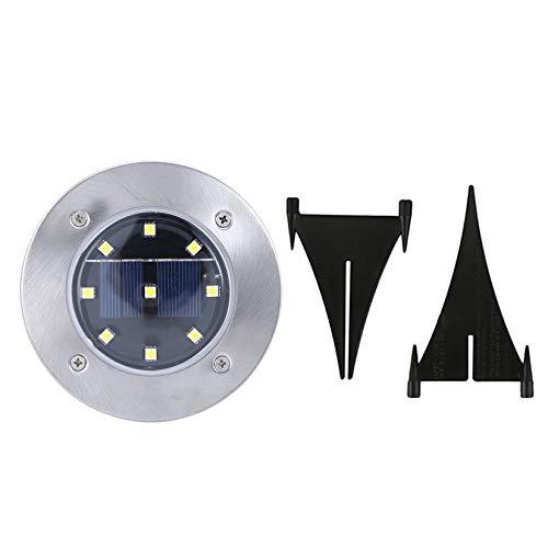 Wenwenzui-ES LED enterrado Solar Powered luz del jardín de la lámpara 9 LED a Prueba de Agua subterránea de la lámpara: Amazon.es: Hogar